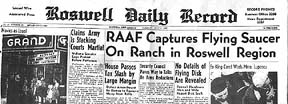 Roswell Daily Record;  July 7, 1947