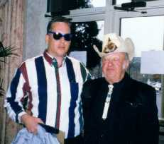 Foto of George McClure with Jimmy Martin, King of Bluegrass