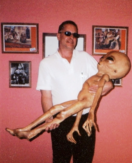 George McClure with an alien friend
