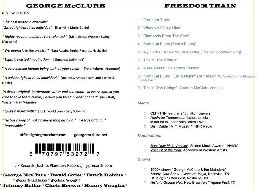 Freedom Train album by George McClure