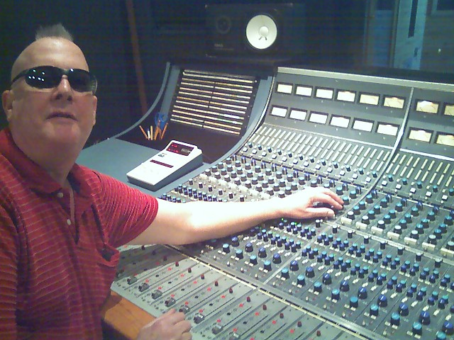 George McClure at the console on Music Row